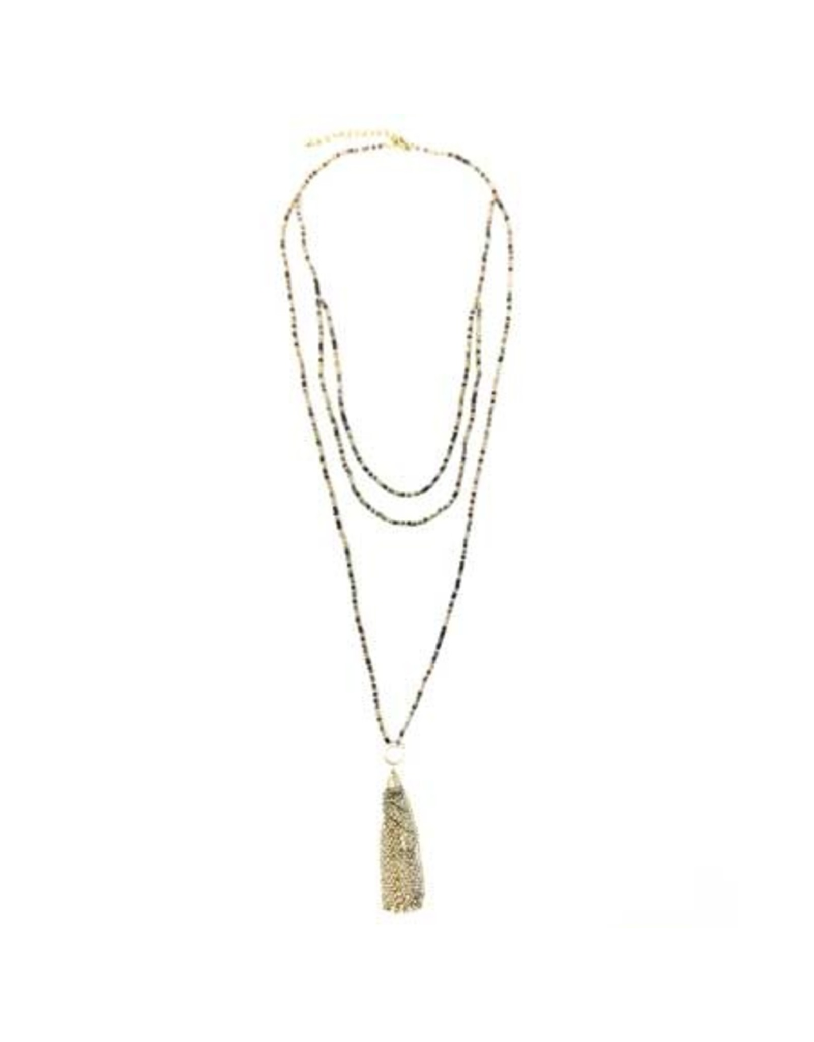 Ombre Metallic Tiered Necklace, India