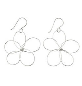 Sterling Silver Outlined Flower Earrings