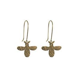Hammered Bee Earrings