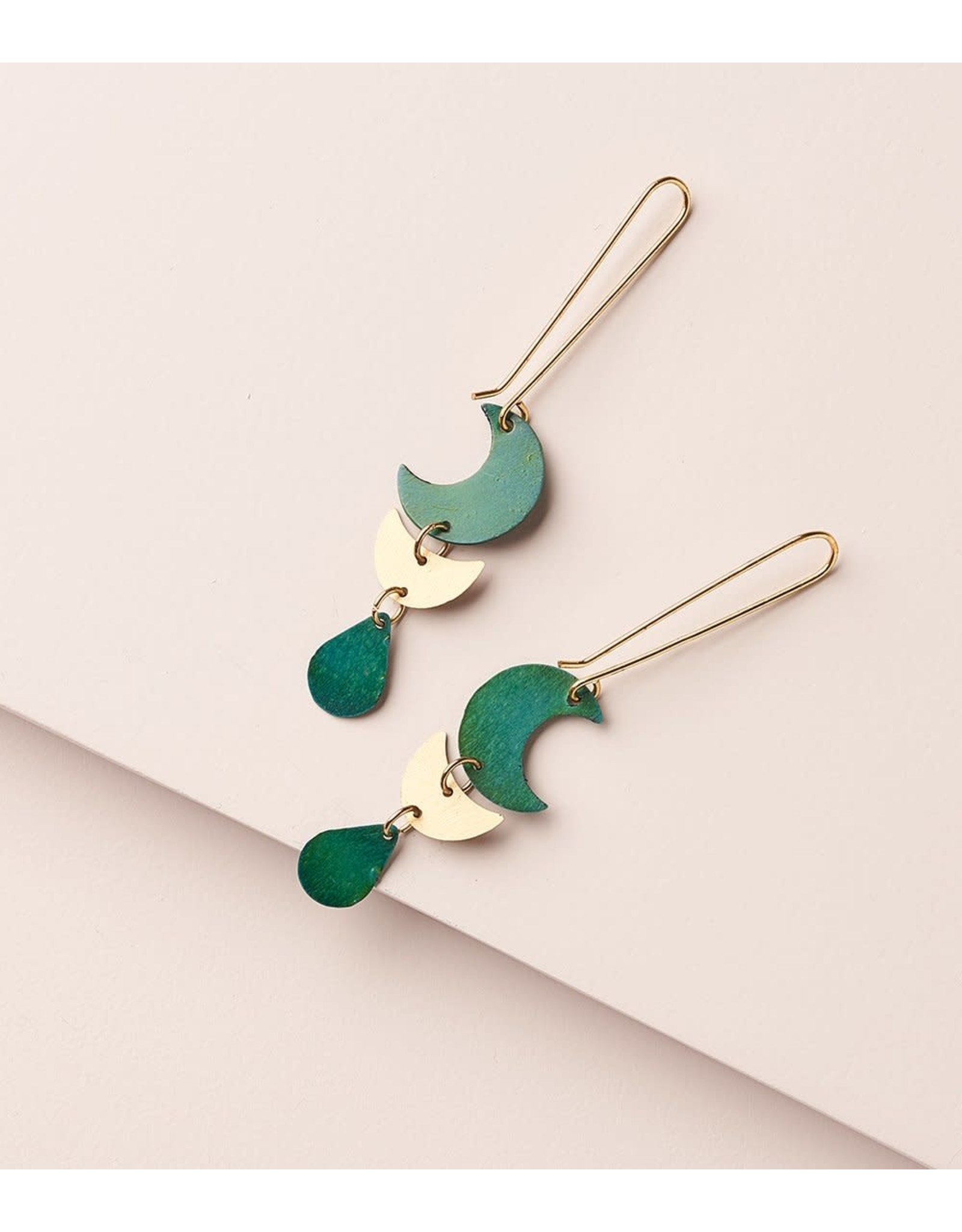 Rajani Earrings, Teal Drop