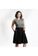 Sleeveless Organic Cotton Cross Over Dress