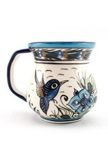 Hand Painted Wild Bird Coffee Cup, Guatemala