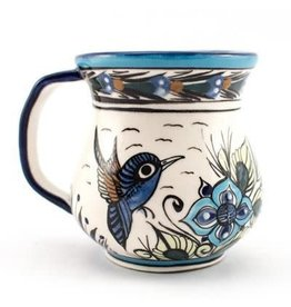 Hand Painted Wild Bird Coffee Cup, Guatemala