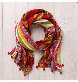 Kantha Scarf Tones  Warm, India