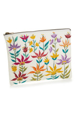 Floral Zipper Pouch, Medium