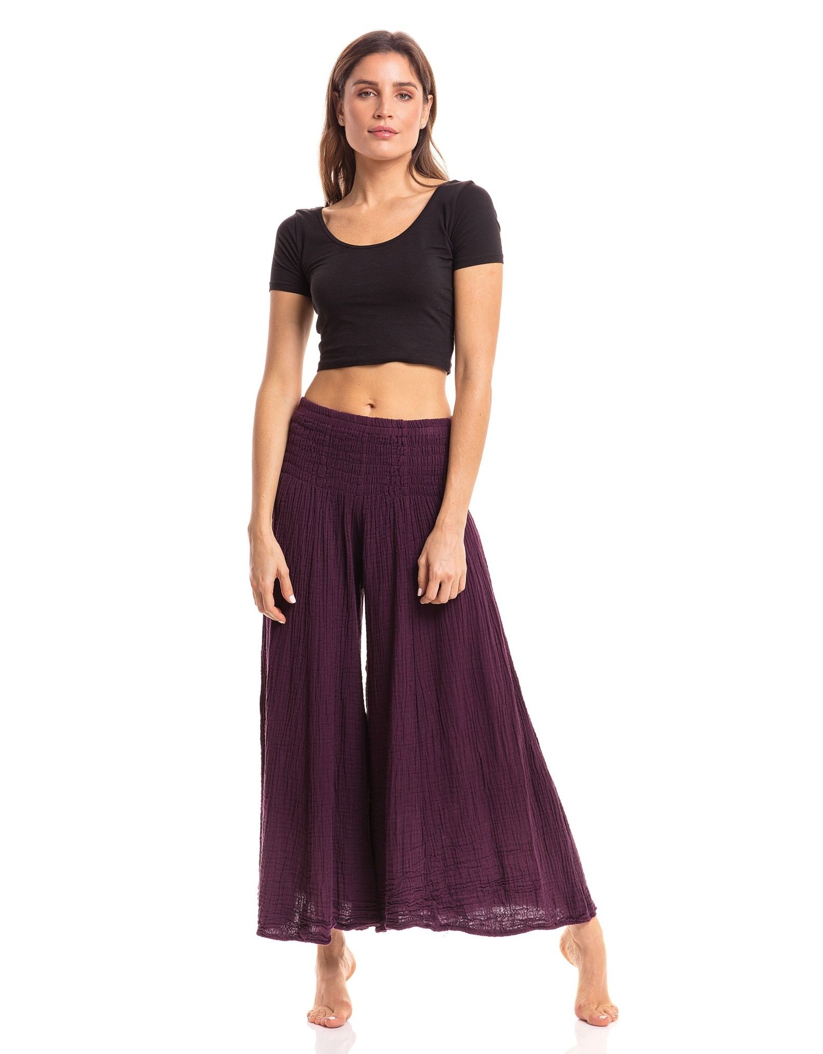 Crinkle Pants, Mulberry