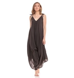 Cotton Romper, Charcoal, Thailand