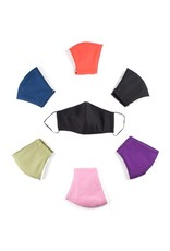 3 Layer Cotton Mask, w/ Filter Pock ASST SOLID COLORS