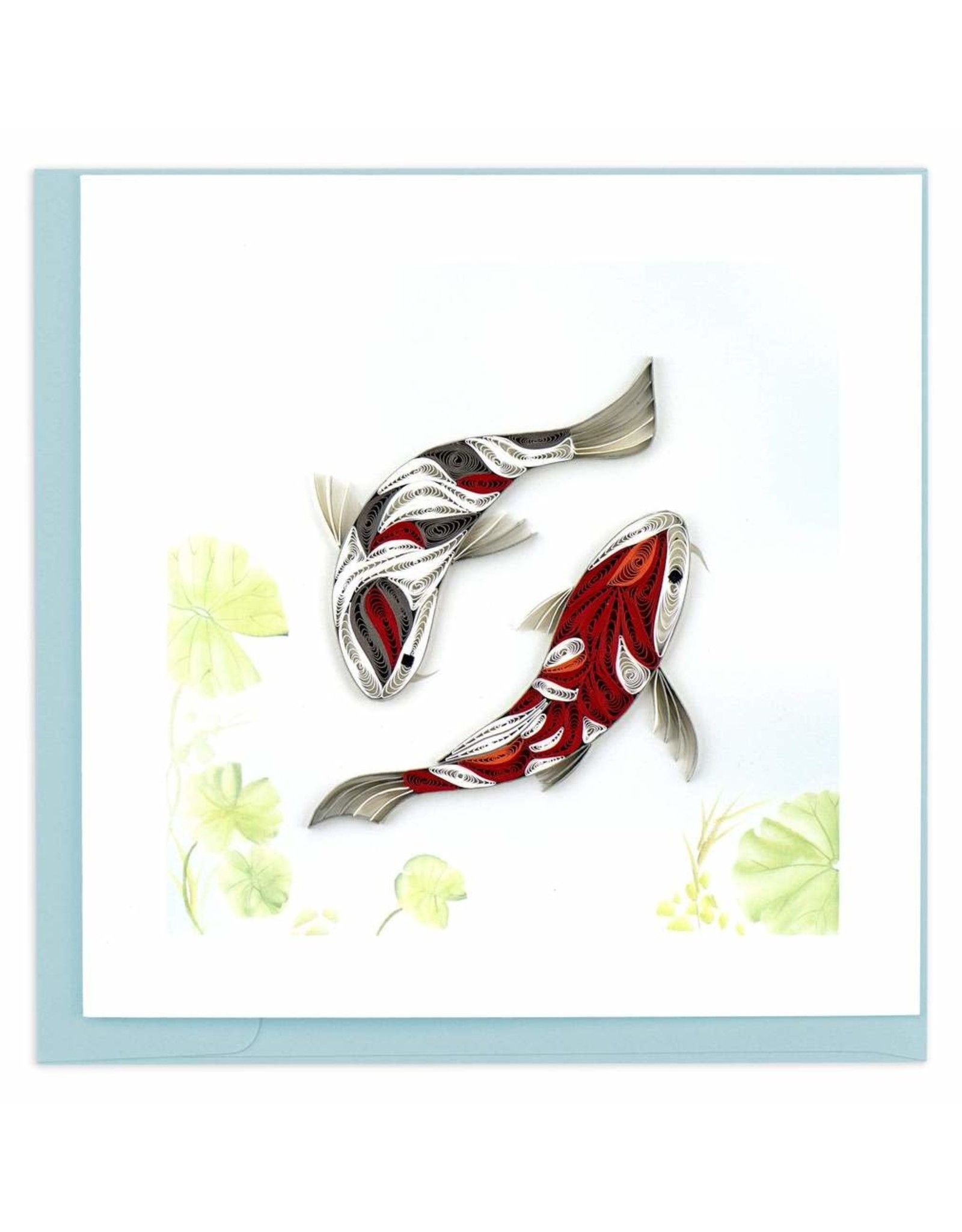 Two Koi Fish Quill Card, Vietnam