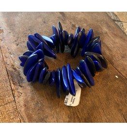 Pedazo Tagua Bracelet, Dark Blue, Ecuador