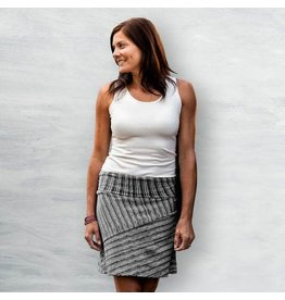 A Line, Organic Cotton Skirt, Black Birch