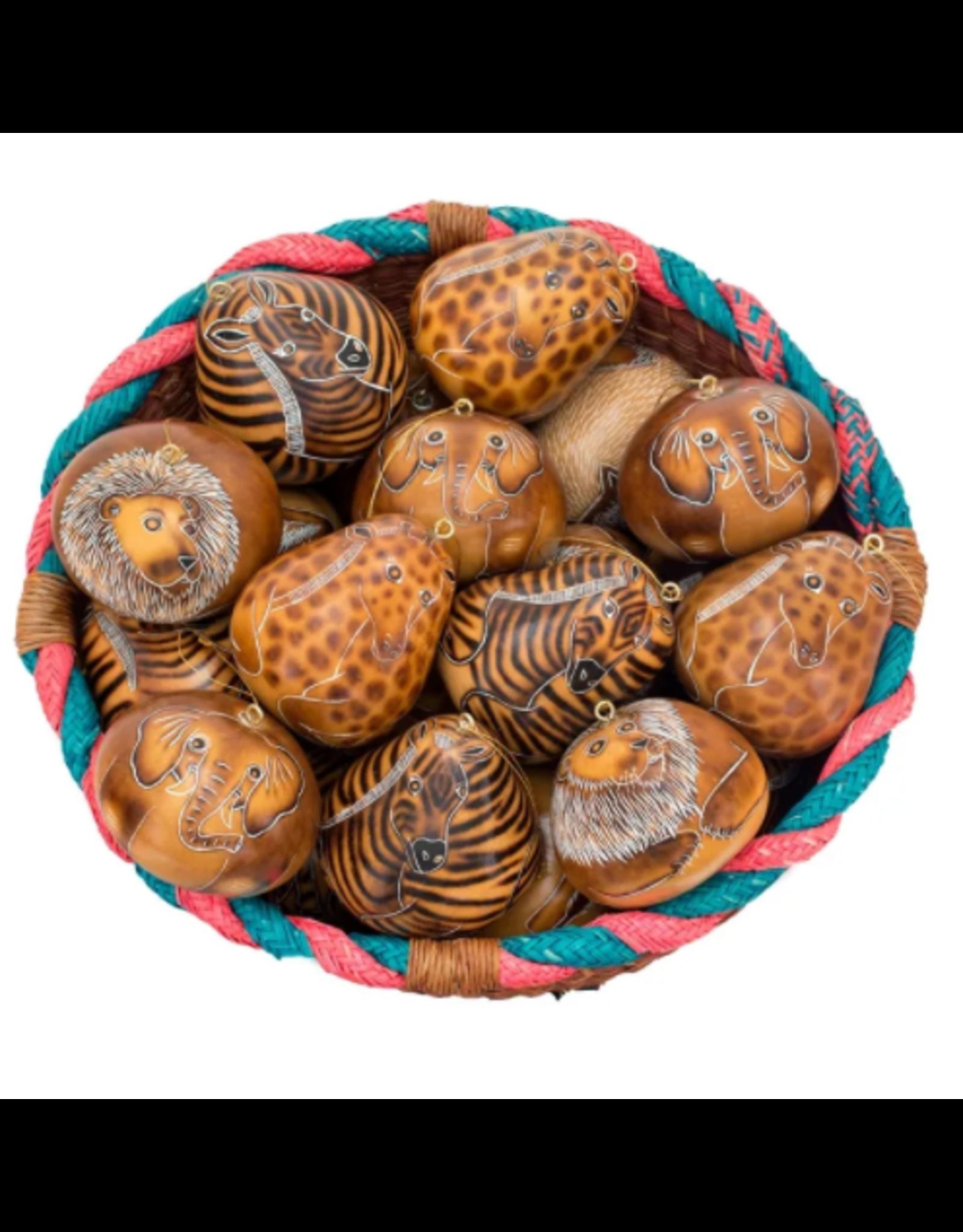 Zoo Mix MEDIUM Gourd Ornaments, Peru
