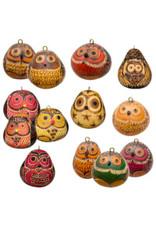 Owl Mini Gourd Ornament, Peru