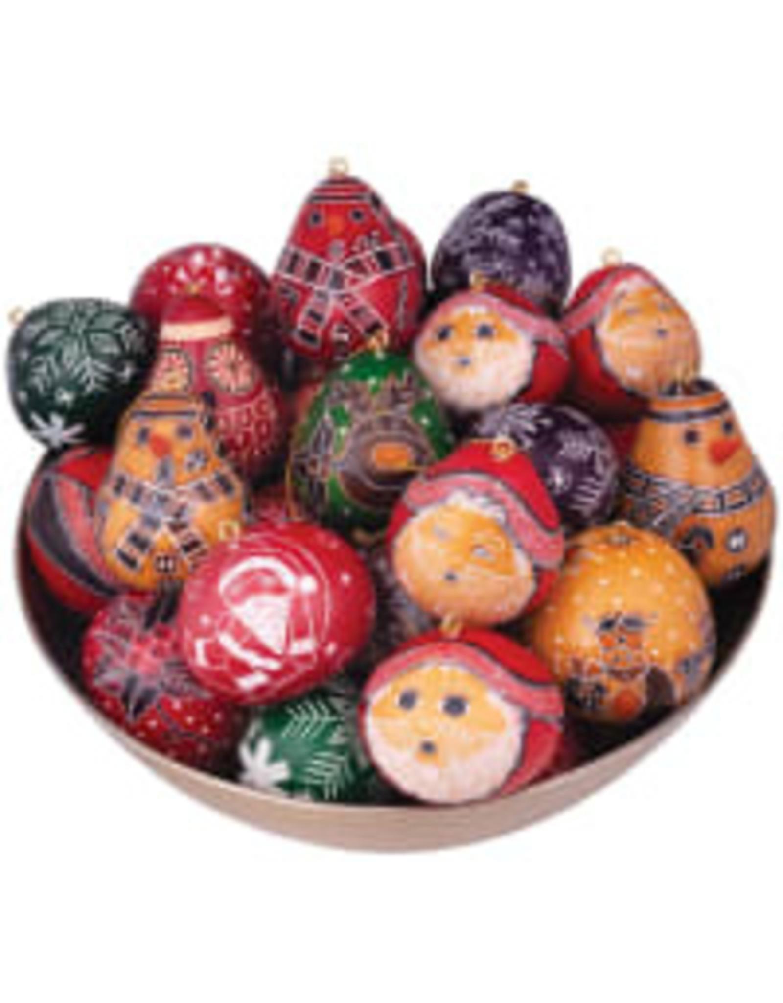 Christmas Mini Gourd Ornament, Peru