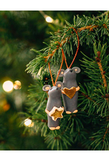 Tiny Mouse Heart Ornament, Columbia