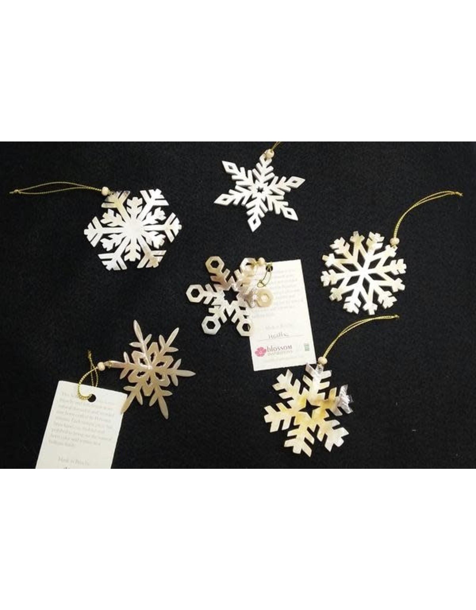Horn Snowflake Ornament, Peru