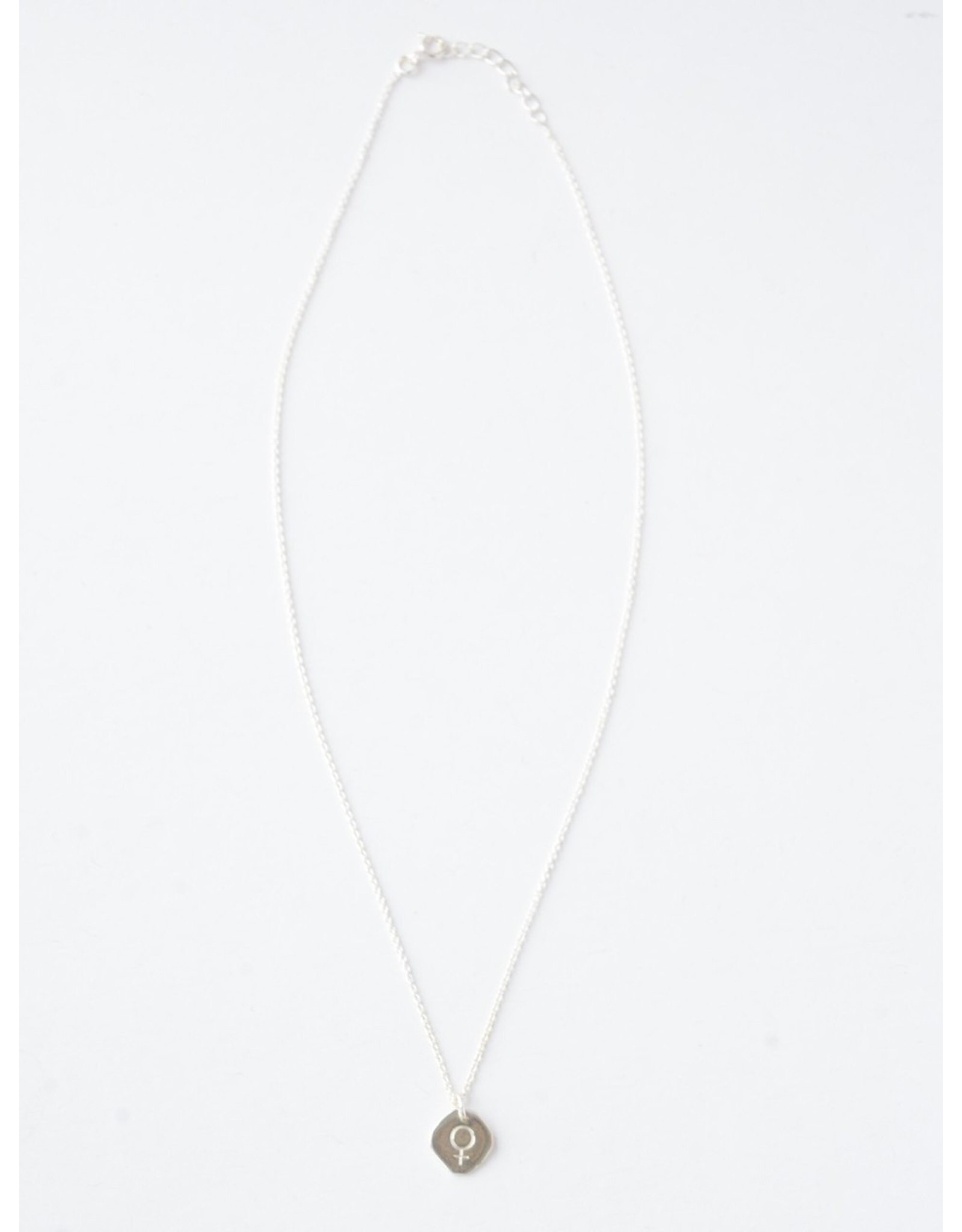 Virtuous Venus Necklace, Sterling Silver, India