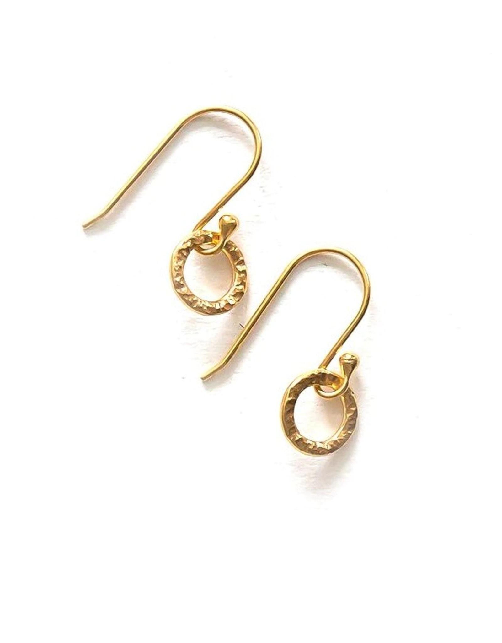Merry Go Round  14k Gold Earrings, Peru