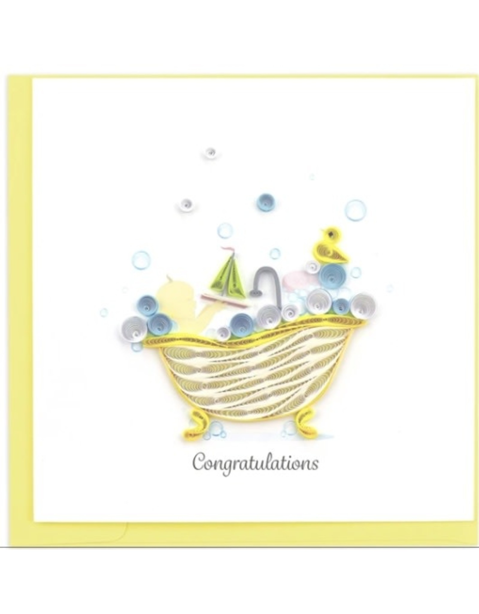 Quilled Baby Tub Card