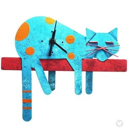 Sleepy Cat Clock