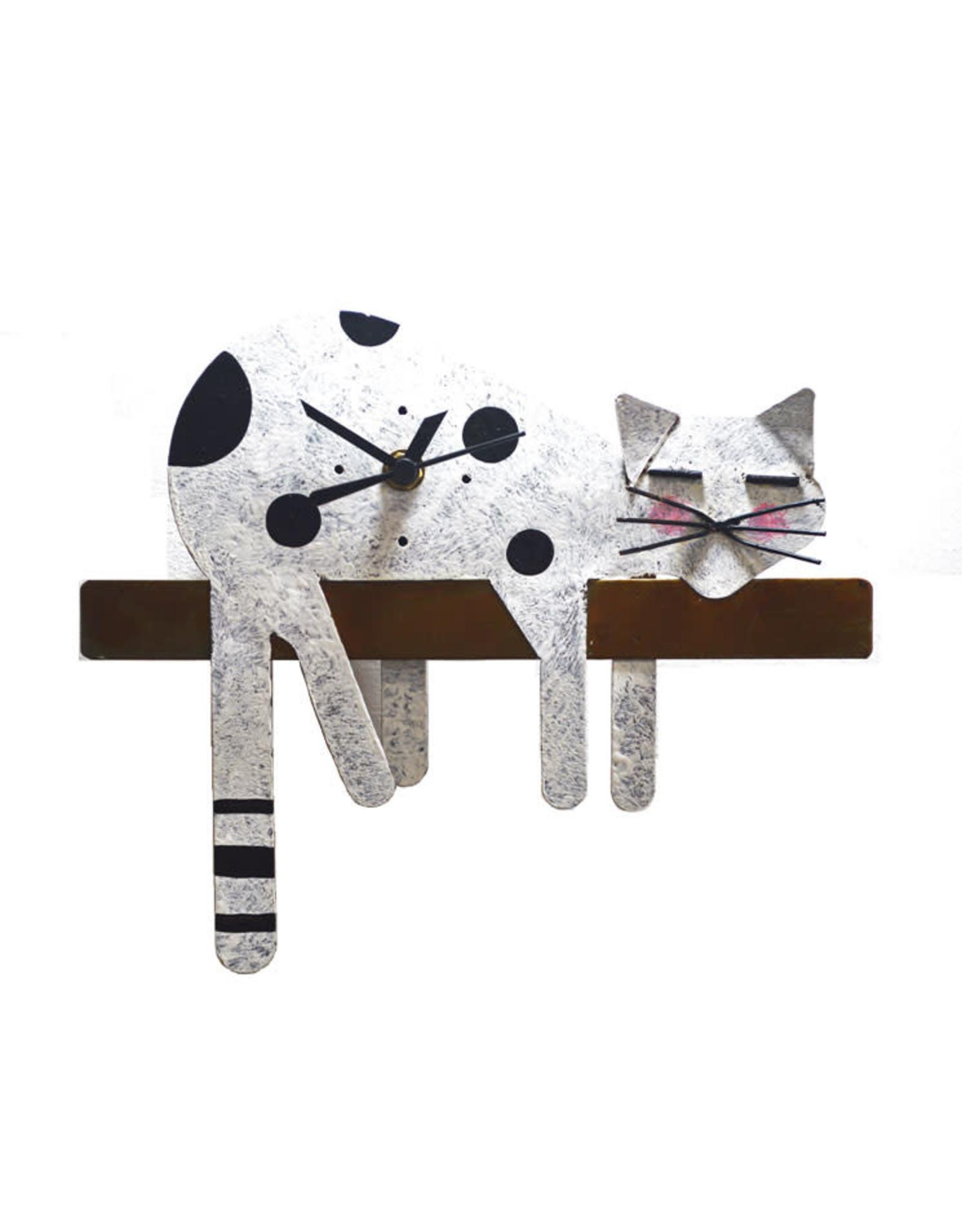 Sleepy Cat Clock