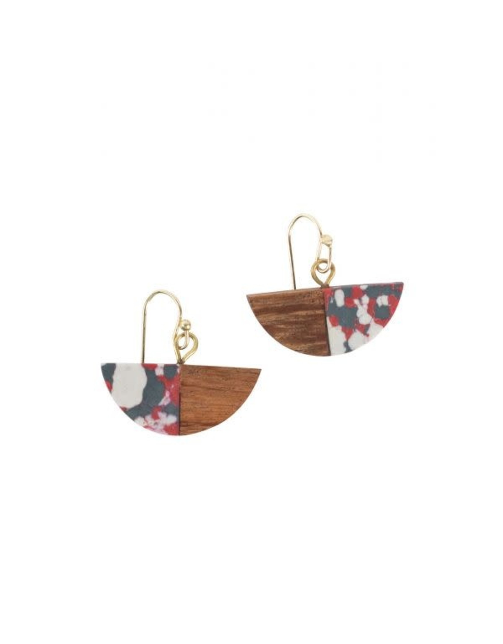 Fire and Wood Earrings, India