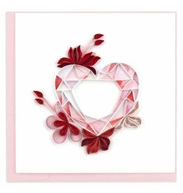 Quilled Gemstone Heart