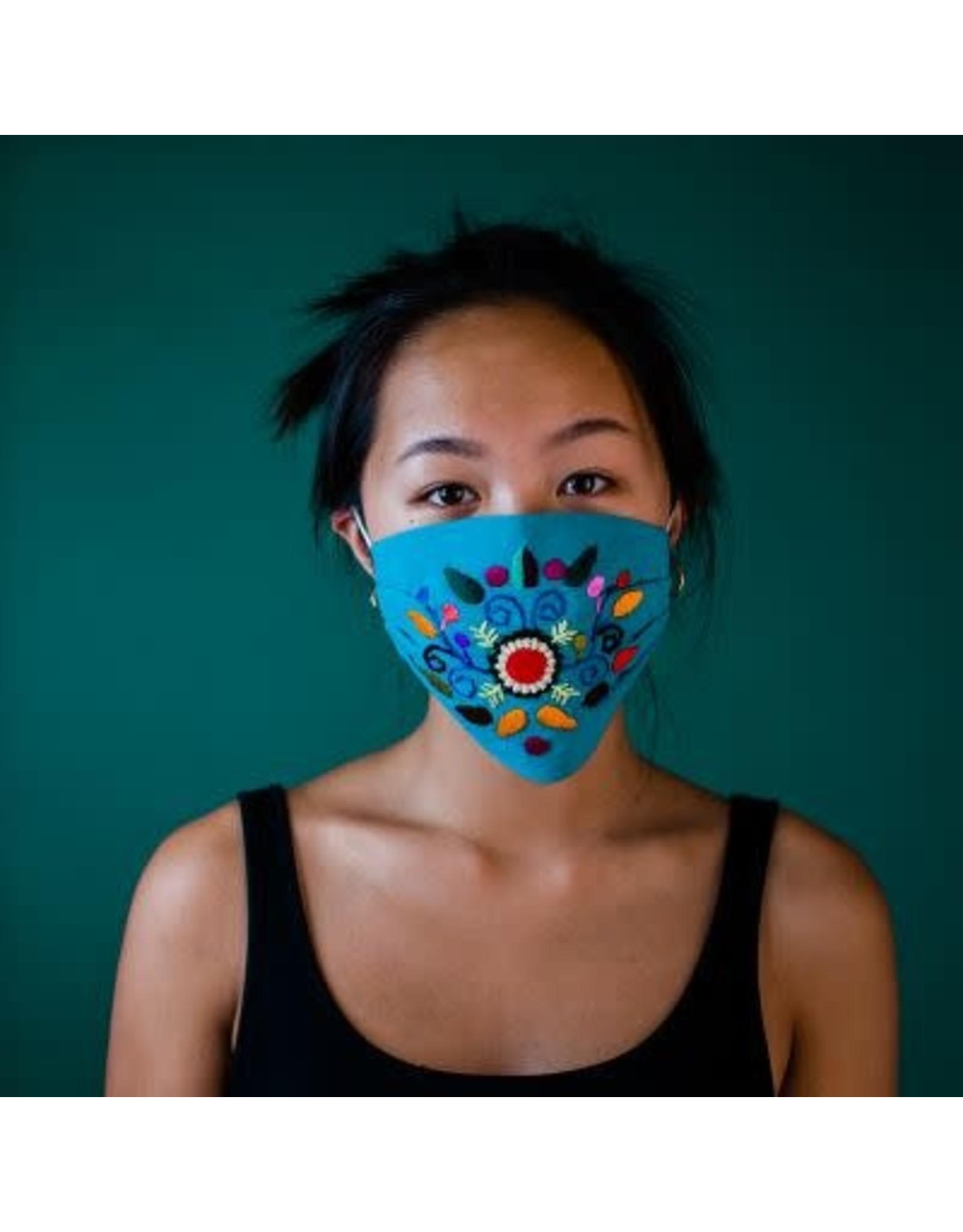 Duckbill Embroidered Mask w/ Pocket, Adult