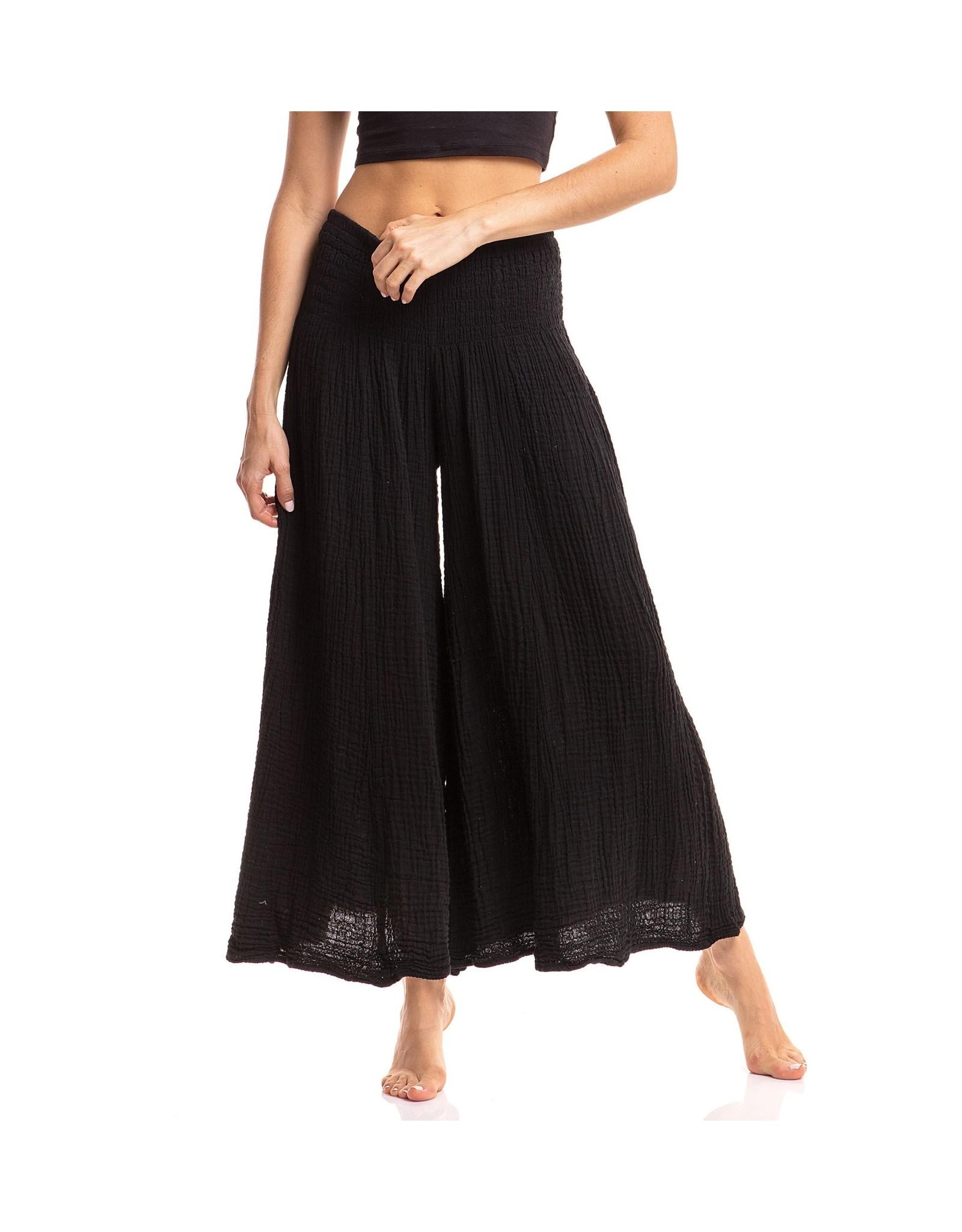 Crinkle Pants, Black