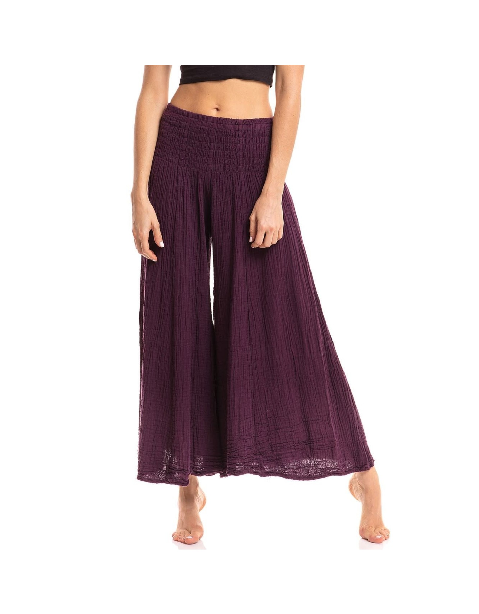 Crinkled Cotton Pants, Mulberry, Thailand
