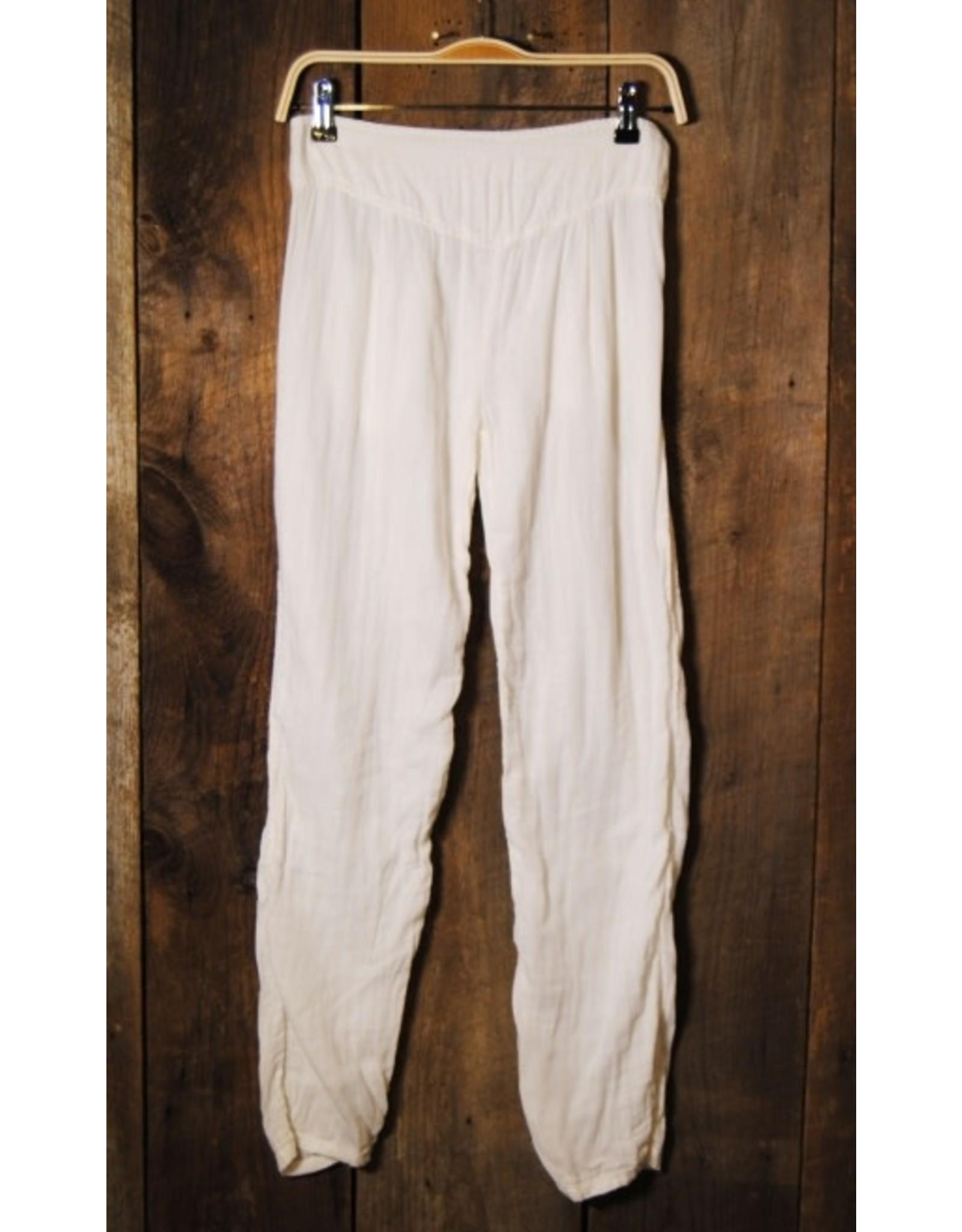 Double Cotton Leggings, White L/XL, Thailand