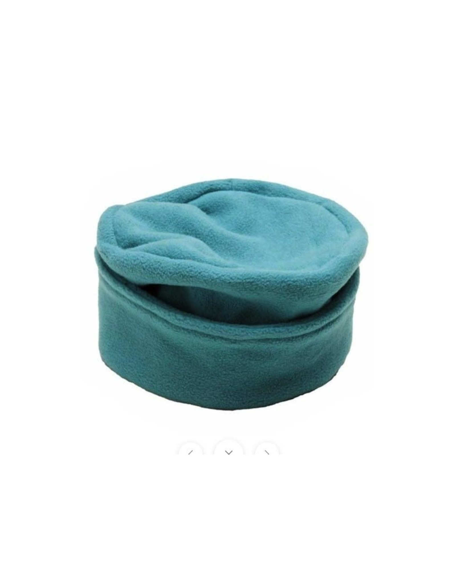 Fleece Hat w/ Flat Top, Turquoise, Nepal