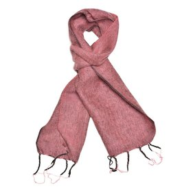 Brushed Woven Scarf, Carnation