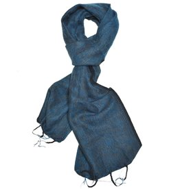 Brushed Woven Scarf, Turquoise