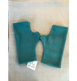 Fleece Fingerless Gloves, Turquoise, Nepal