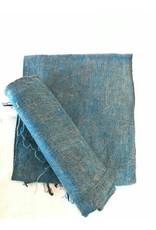 Brushed Woven Cotton/Acrylic Blanket, Petrol