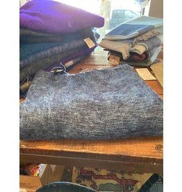 Brushed Woven, Cotton Acrylic Blanket, Denim