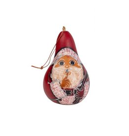 Santa Gourd Ornament, Peru
