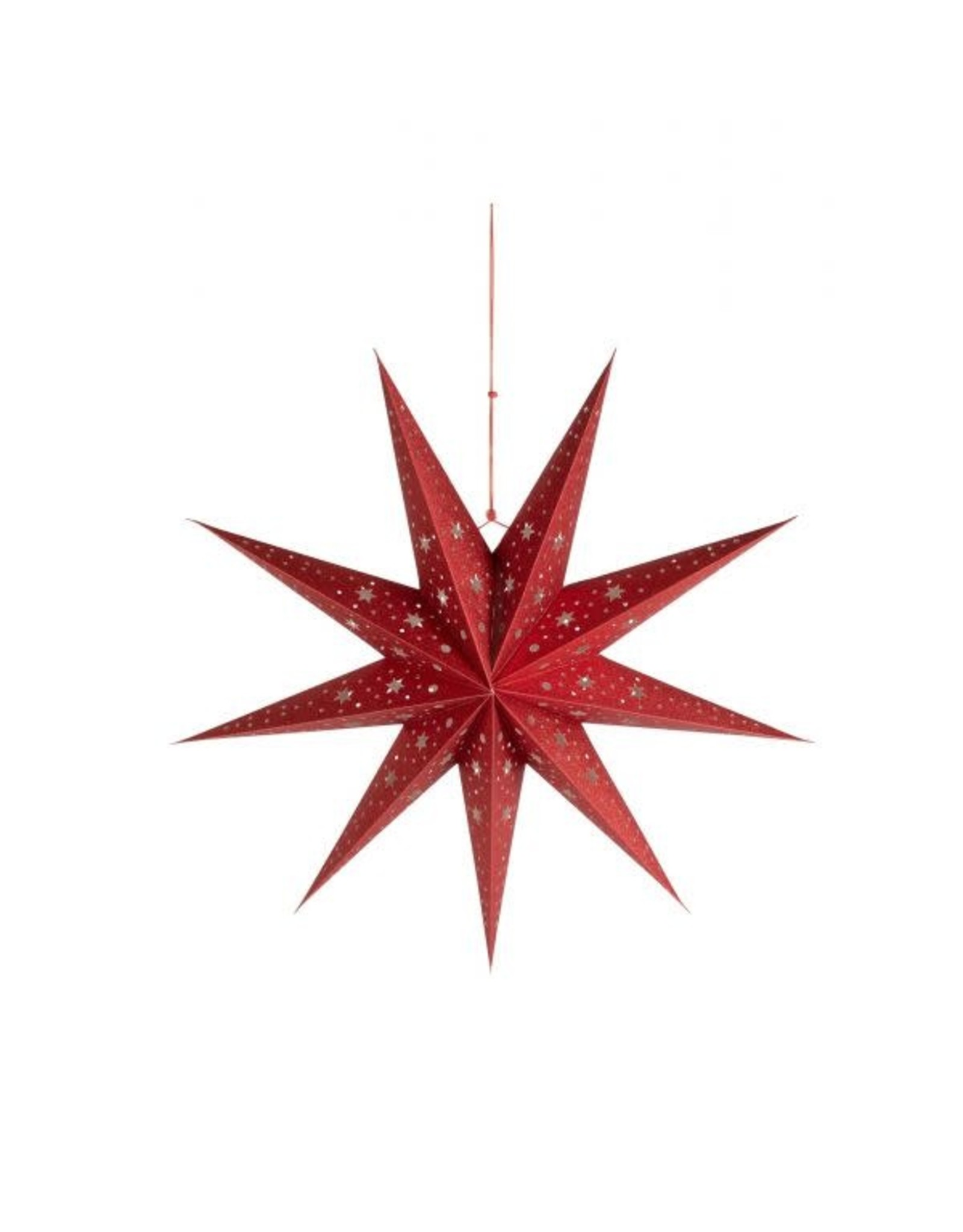 3D Red Paper Star, India
