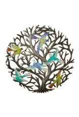 Drum Art w/ Colorful Birds, Haiti