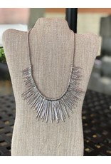 Silver Icicles Statement Necklace, Thailand