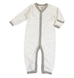 Venice Stripe Coverall, Gray, 6-12 months