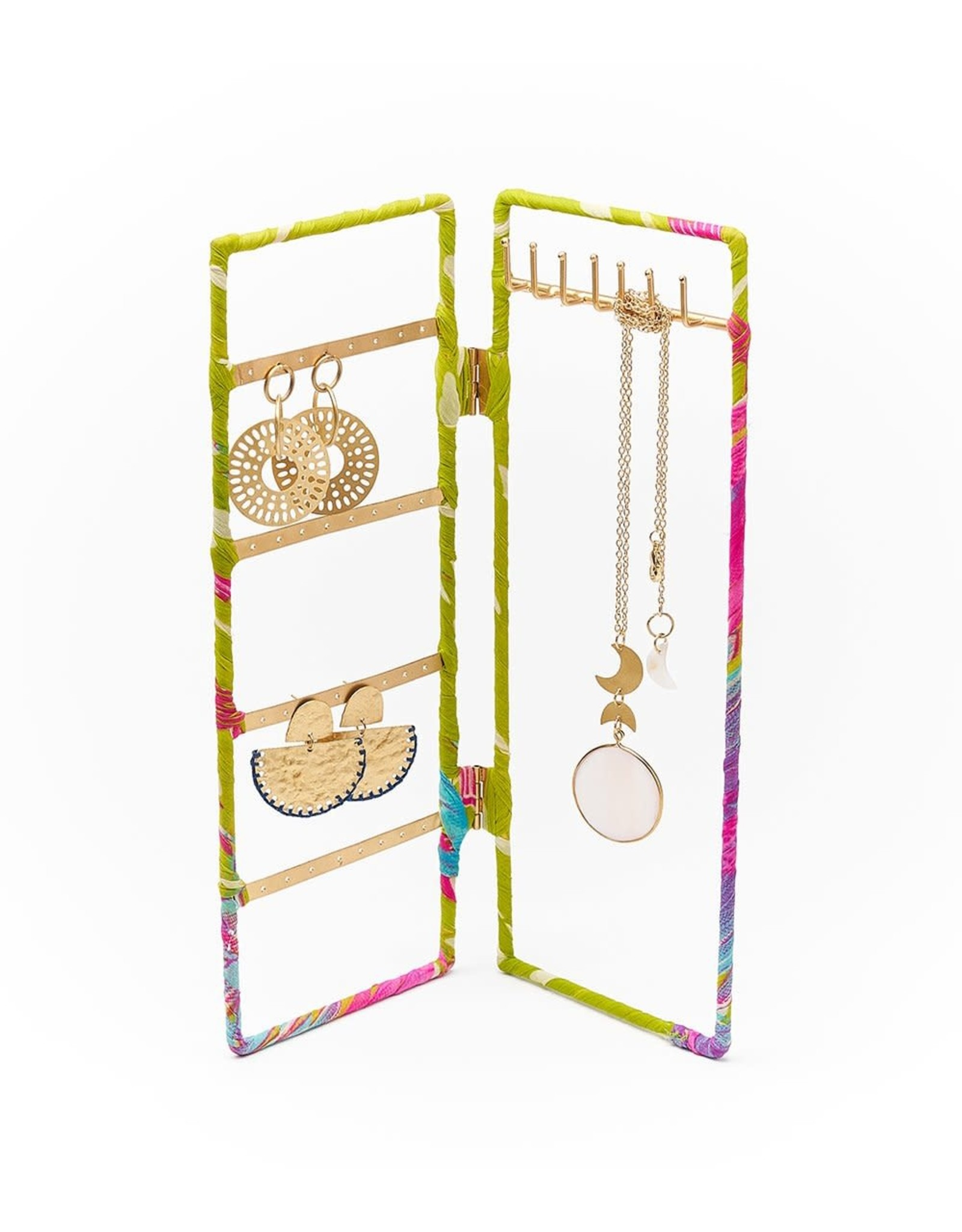 Upcycled Sari Jewelry Stand - Assorted, India