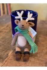 Stuffed Toy Reindeer, 100% Alpaca