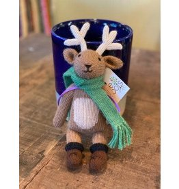 Stuffed Toy Reindeer, 100% Alpaca