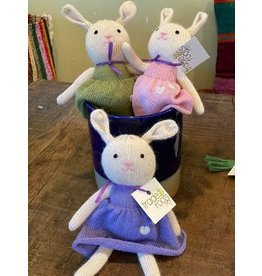 Stuffed Toy Bunny Rabbit, 100% Alpaca