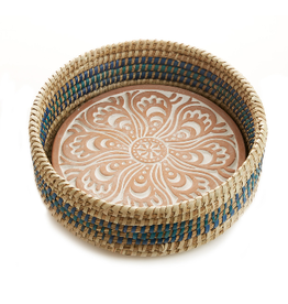Kolka Breadwarmer w/ Blue Detail Basket, India