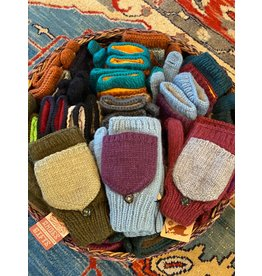 Alpaca Mittens Assorted Colors, Peru