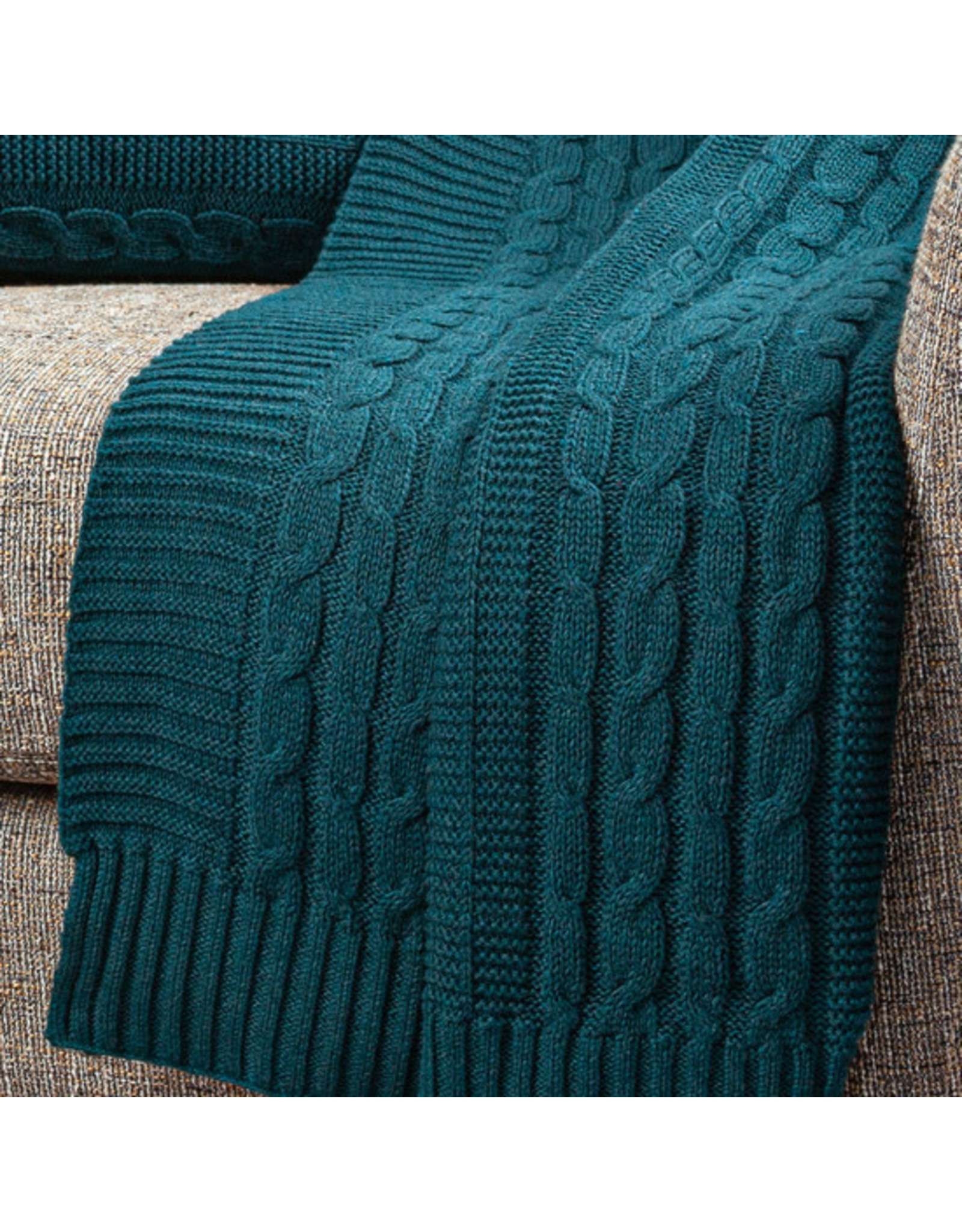 Organic Cotton Cable Stitch Throw