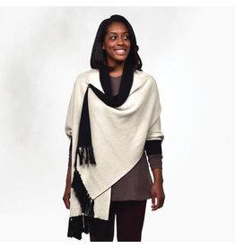 Reversible Organic Cotton Sweater Shawl
